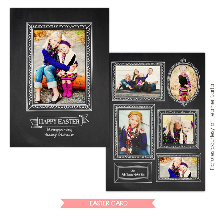 Easter photo card | Spring portraits e733