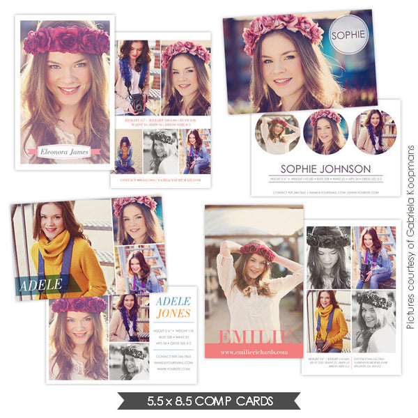 Modeling Comp Cards | Fresh look e749