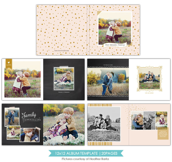 Free spirits | 12x12 Album template e754