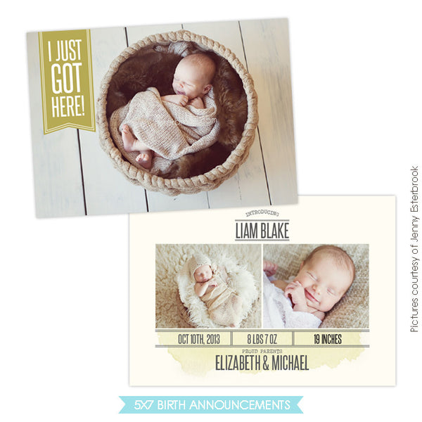Birth Announcement | Got here e758