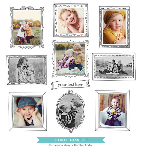 Digital Frames set | Magical portraits e772