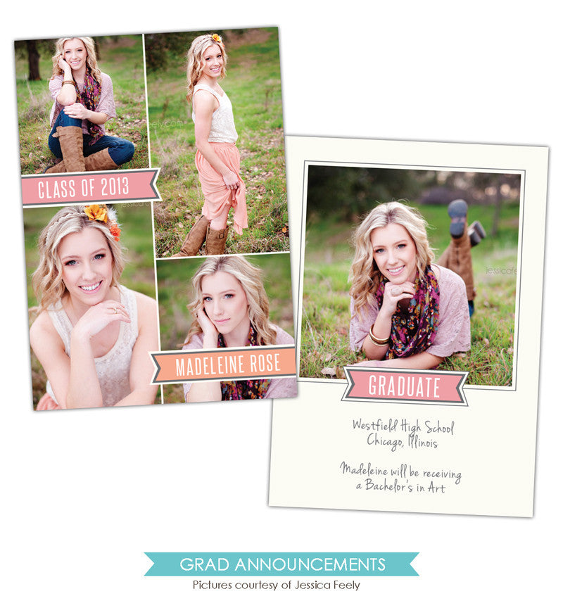 Grad announcement | Madeleine Rose e788