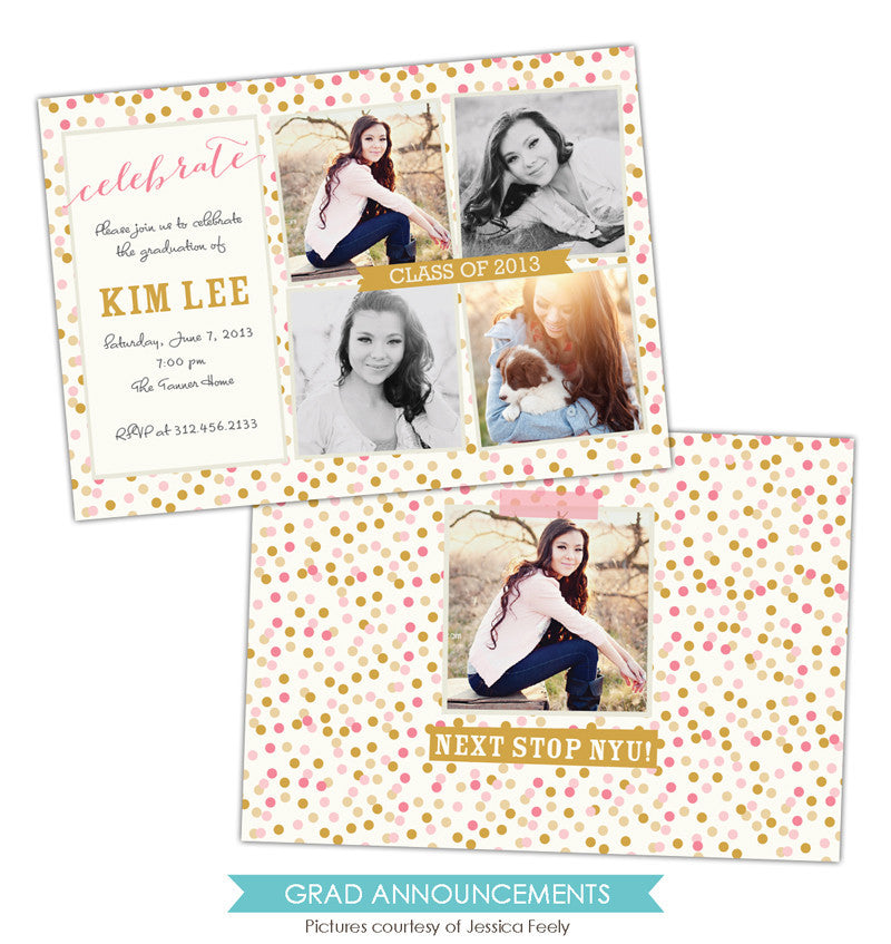 Grad announcement | Confetti celebration e789
