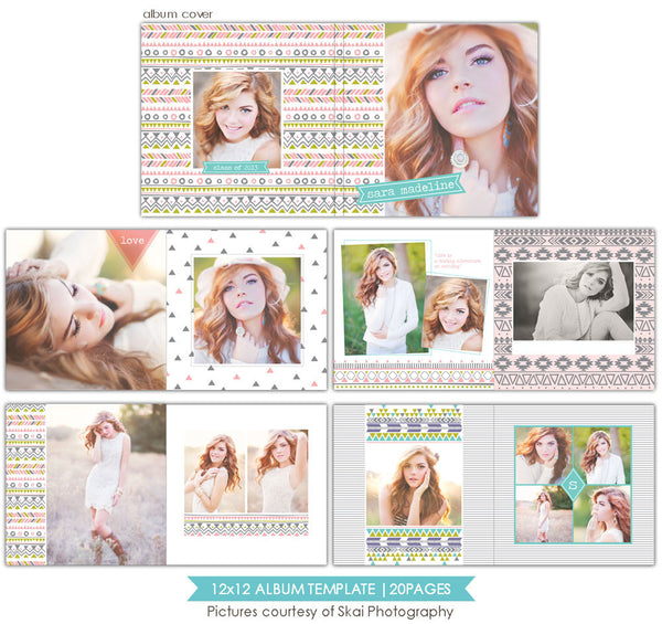 Inspiring days | 12x12 Senior Album template e827
