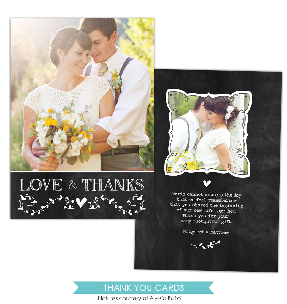 Wedding Thank You Card | Thanks note e850