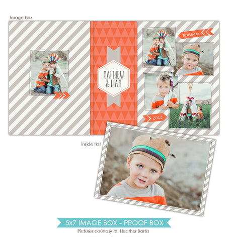 5x7 Image Box | Orange friends e859