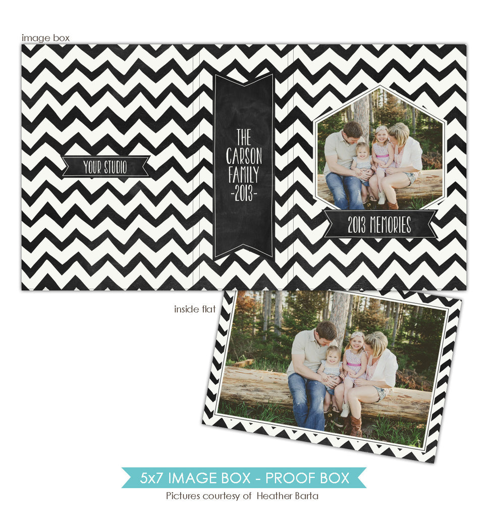 5x7 Image Box | Whimsy chevron e862