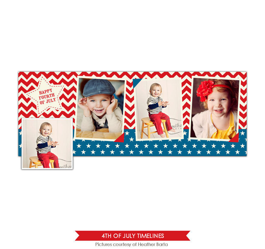 Facebook timeline cover | Chevron and stars e873