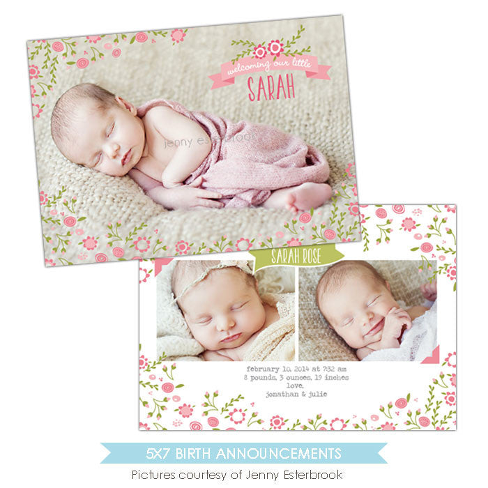 Birth Announcement | Garden Baby e899