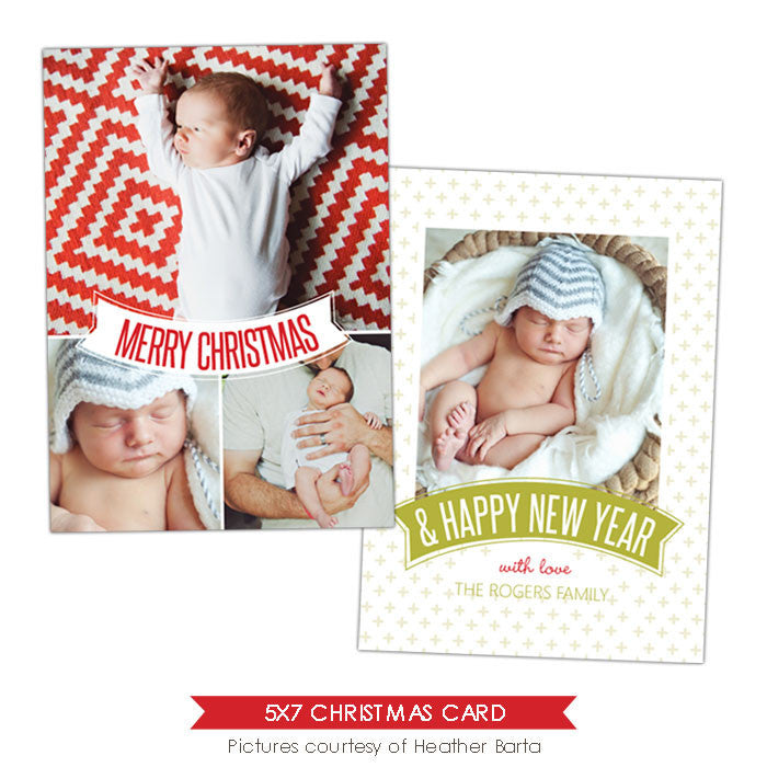 Christmas Photocard Template | White label e911