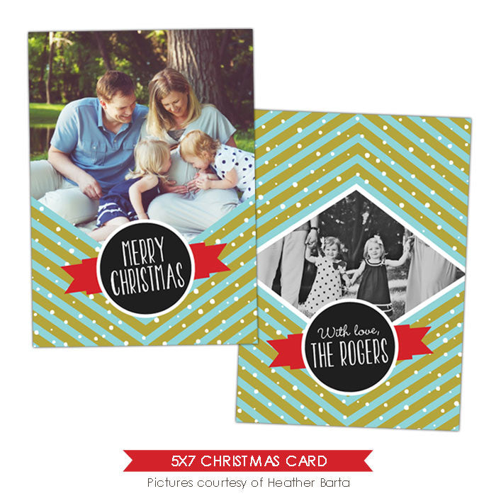 Christmas Photocard Template | Family celebrations e913