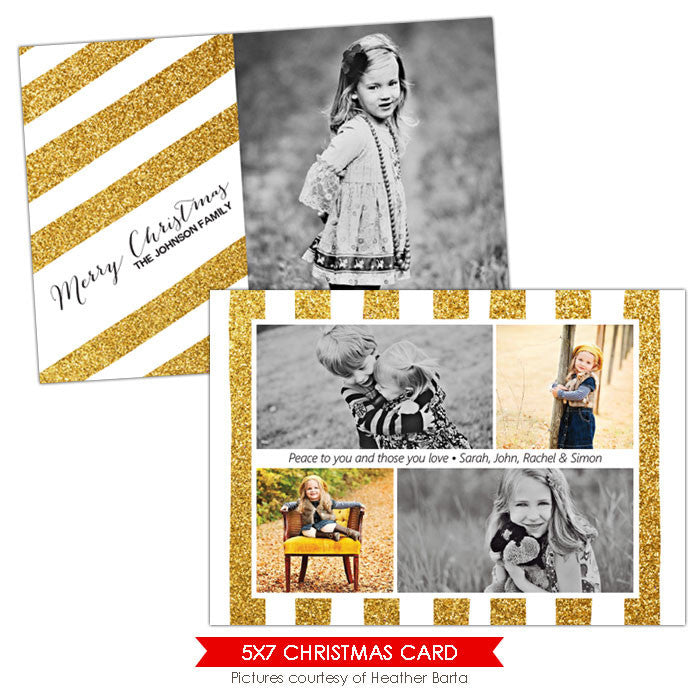 Christmas Photocard Template | Shining  e919