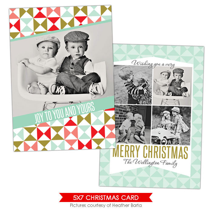 Christmas Photocard Template | Sweet wishes e920