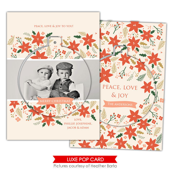 Christmas Luxe Pop Card Template | Garden circle e942