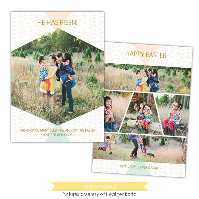 Easter photo card | He has risen e996