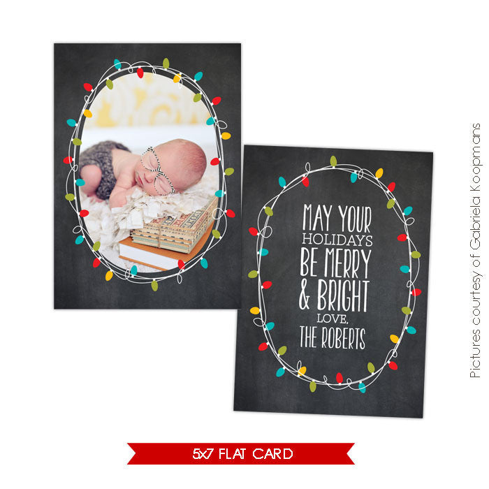 Holiday Photocard Template | Shining e564