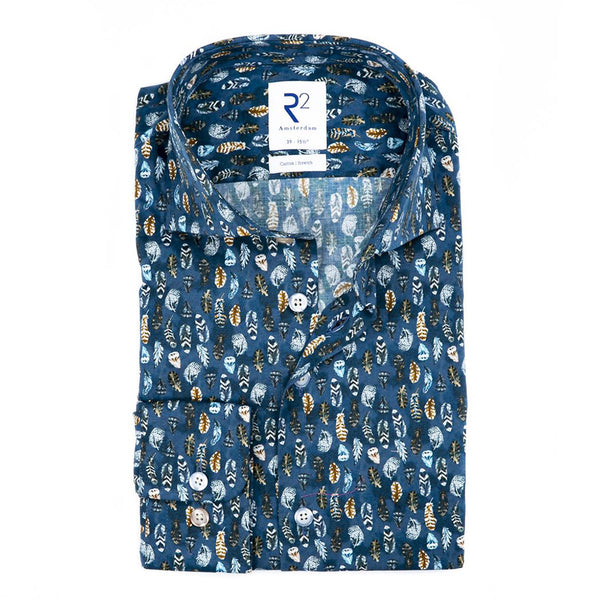 R2 Feather Print Shirt