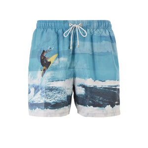 BOSS Quick-dry Photo-print Swim Shorts