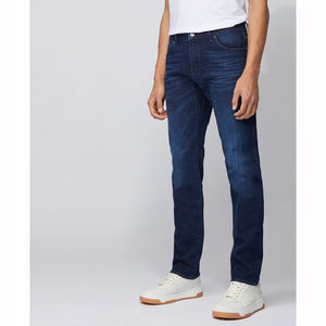 BOSS Regular-fit Jeans in Mid-blue Italian Denim