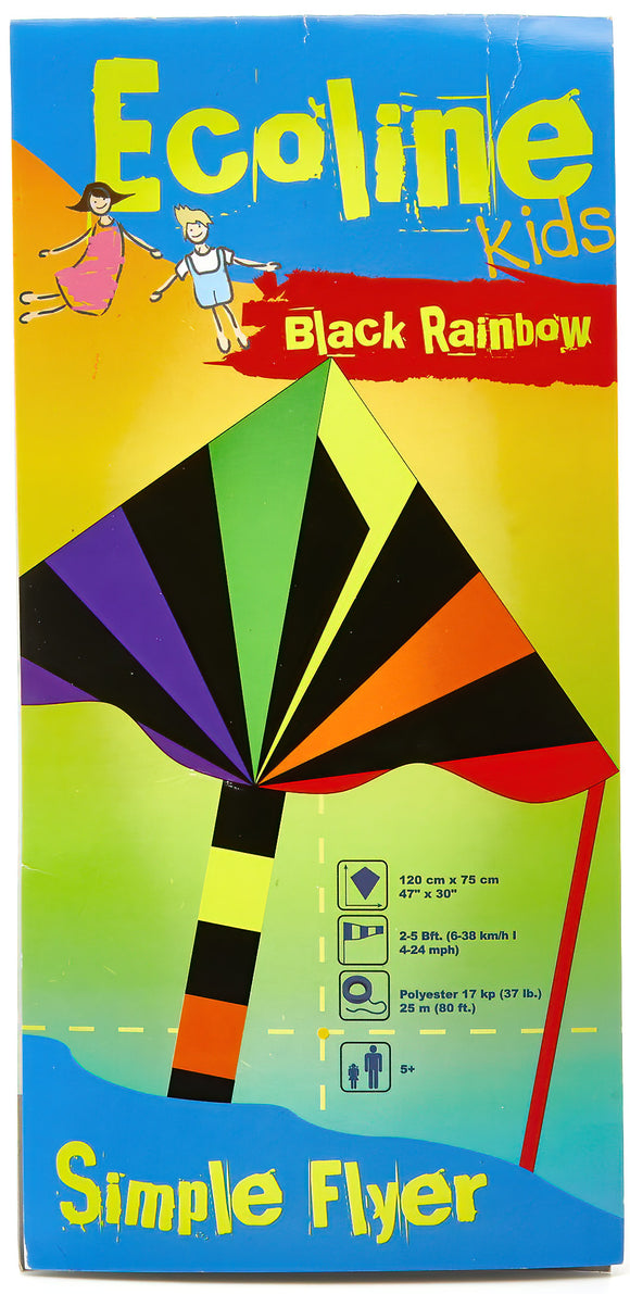 Black Rainbow Delta Kite 120cm