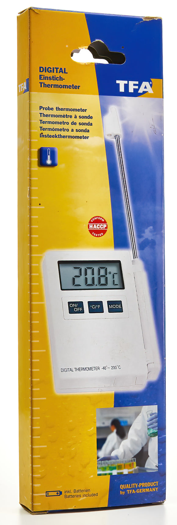 Cabled Wide Range Digi Probe Thermometer