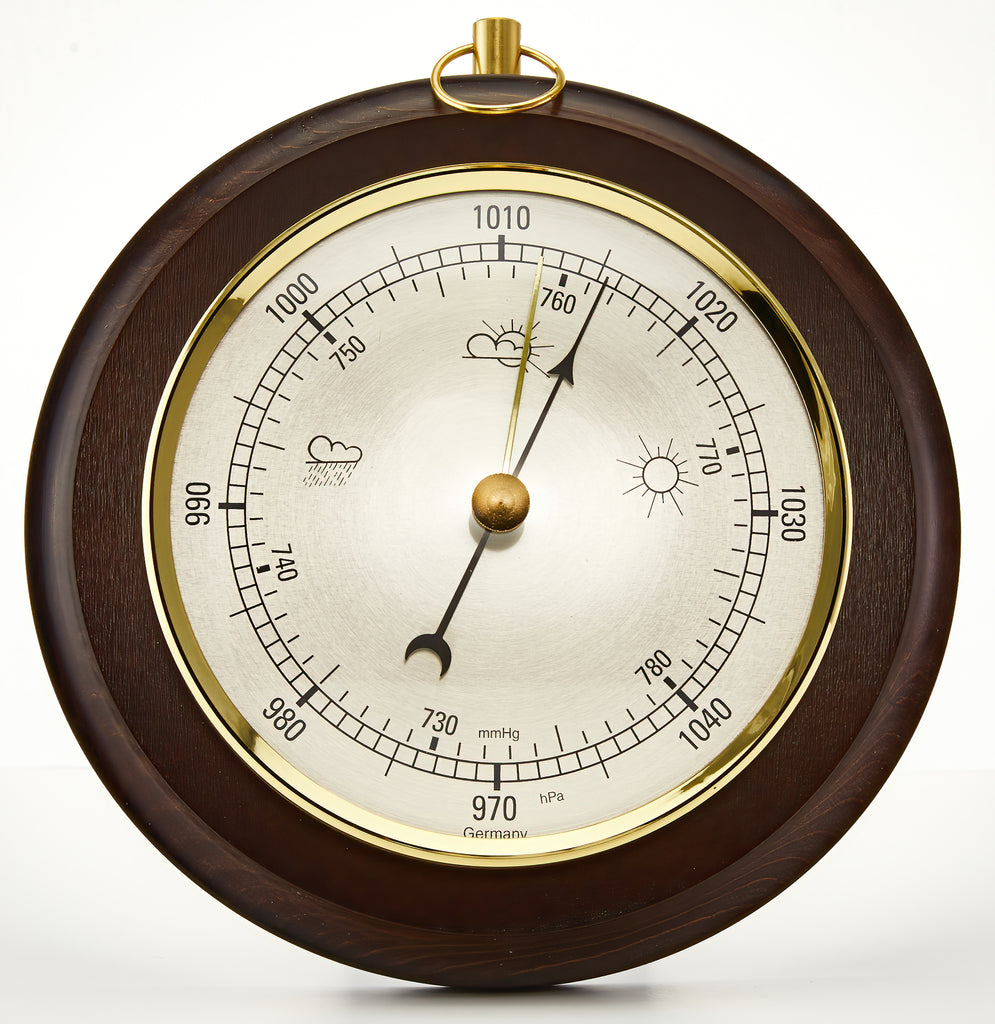 Classic Walnut Mounted Barometer