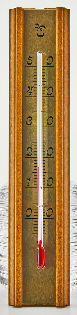 Classic Wood-Mounted Indoor Thermometer