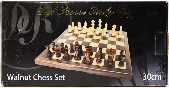 Dai Rossi Walnut Chess 30cm