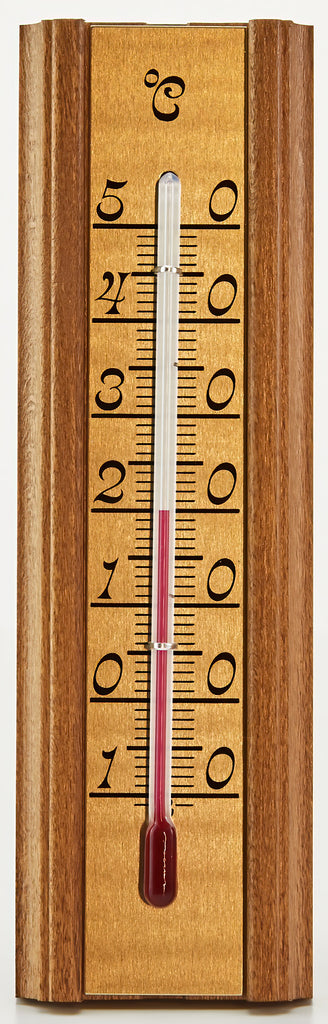 Small Wood-Mount Spirit Thermometer