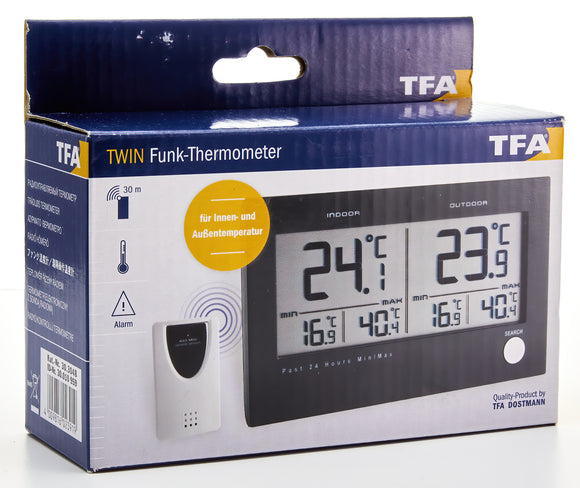 Twin Indoor/Outdoor Digi Alarm Therm