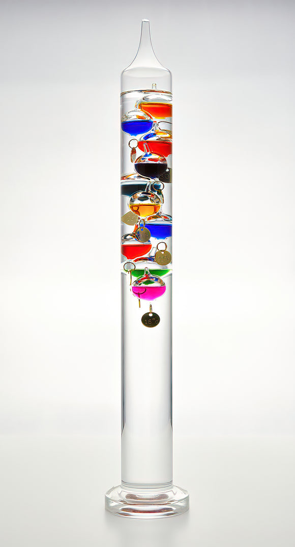 Galileo Thermometer, large