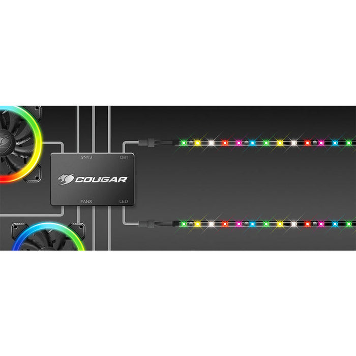 Cougar LED STRIP | Ensemble de 2 bandes lumineuses - RGB LED