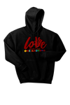 PEACE and LOVE Chenille Patch EMBROIDERED HOODIE