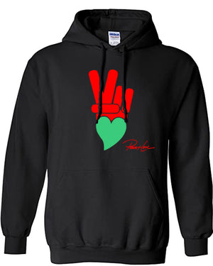 PEACE AND LOVE SOCIAL JUSTICE HOODIE