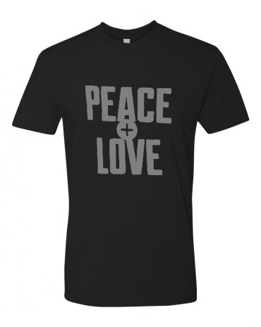 Unisex Cotton T-Shirt   - PEACE and LOVE