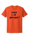 PEACE & LOVE HAPPINESS HEART COTTON TEE