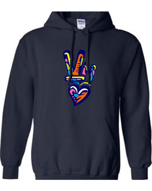 ART OF PEACE and LOVE COTTON HOODIE