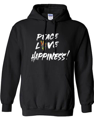 PEACE, LOVE, & HAPPINESS HOODIE