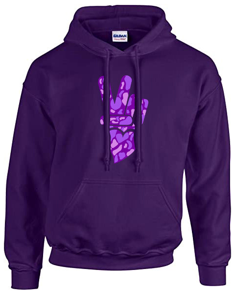 PEACE and LOVE DOMESTIC VIOLENCE HOODIE