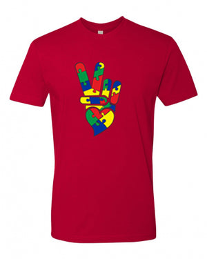 PEACE and LOVE AUTISM COTTON TEE SHIRT