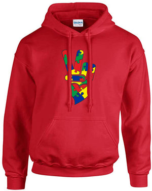 PEACE and LOVE AUTISM COTTON HOODIE
