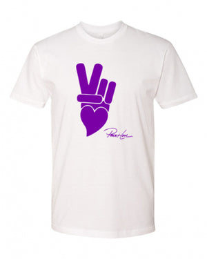 Unisex Cotton T-Shirt  - PEACE+LOVE LOGO