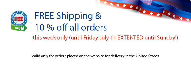 Free Shipping and 10% off. This Week only