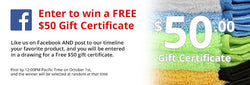 $50 Gift Certificate Giveaway
