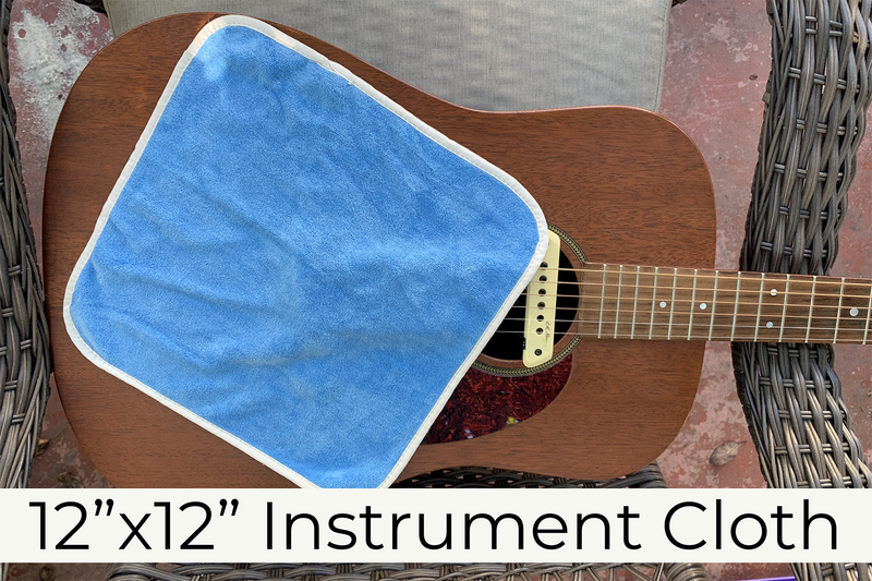 Super Soft Microfiber Guitar and Instrument Cloth(400gsm, 12 in. x 12 in.)