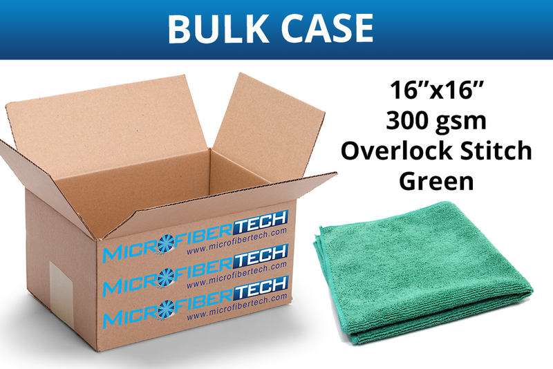 All-Purpose, Cleaning, Dusting, Wiping, Microfiber Towel (300 gsm, 16 in. x16 in.) CASE of 240