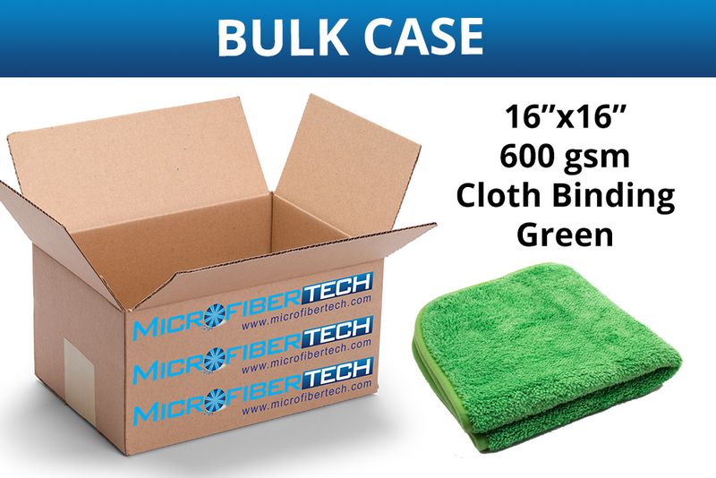 Extra Fluffy Microfiber Quick Detail & Waterless Wash Cloth (600 gsm, 16 in. x 16 in.) CASE of 110