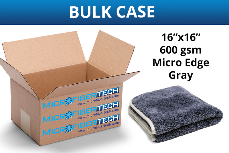 Extra Fluffy Microfiber Detailing Towel with MicroEdge (600 gsm, 16 in. x 16 in.) CASE of 110