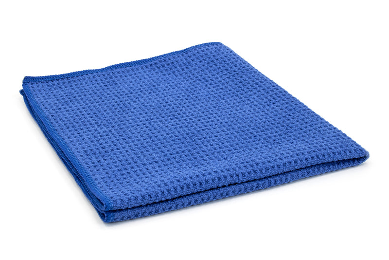 Waffle-Weave Microfiber Towel (400 gsm, 16 in. x 16 in.) - Windows, Glass, Hand Towel