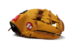 "JL-115-baseball glove, outfiled, polyurethane, size 11.5"" brown"